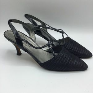 Paloma Made In Italy Black Slingback Size 8.5B